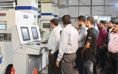 Uflex launches first Made-in-India 8-color gearless CI flexo press