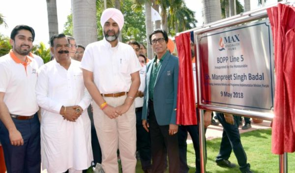 Max Speciality Films inaugurates its fifth BOPP line