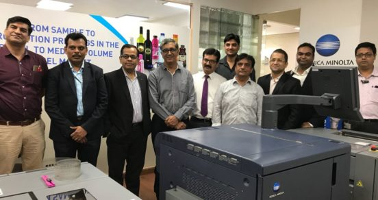 Konica Minolta installs its first roll-to-roll label press in India
