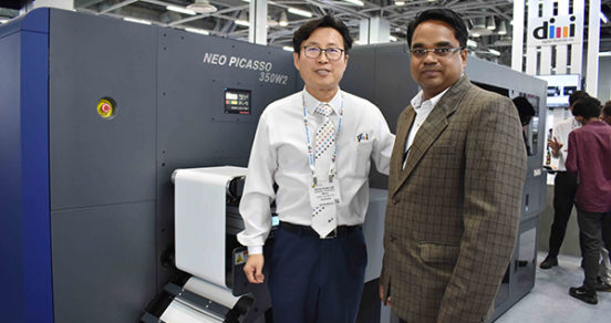 SG Edge and Dilli display digital label press at Labelexpo India 2018
